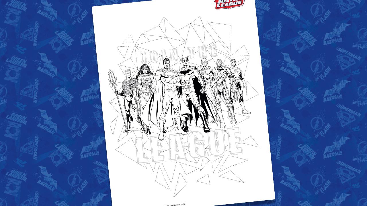 Justice League Coloring Sheet 01 Dc Kids