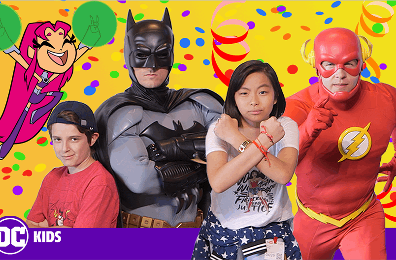 DC Super Hero Day at the YouTube Space LA | Meeting Batman and the Flash! | DC KIDS SHOW